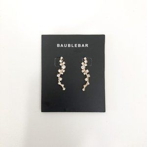 Baublebar Gold Drop Earrings with Crystal Accents